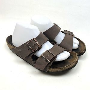 Birkenstock Brn Women Open Toe Buckle Sz 41 US 10